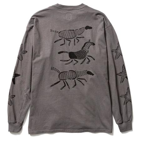 Sasquatchfabrix. Horse Long Sleeve Tee - Charcoal