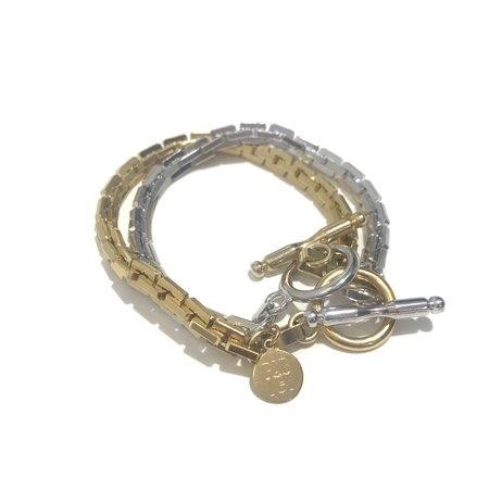 PAR ICI Two Tone Toggle Necklace/Bracelet
