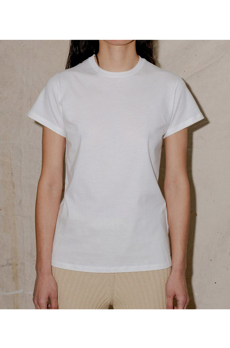 Baserange Tee Shirt in Cotton Jersey - off white