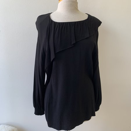 [Pre-loved] Just Female Ruffle Blouse - Black