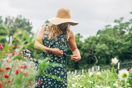 Conrado Jayden Wrap Skirt - Green Floral
