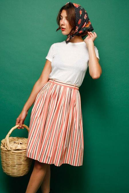 Vintage Candy Cane Stripe Skirt