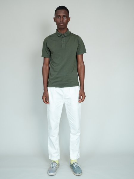 Magill Garment Dyed Pleated Chino - Ivory