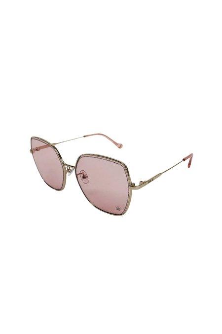 Mondottica The Nina Sunglasse - Gold/Peach