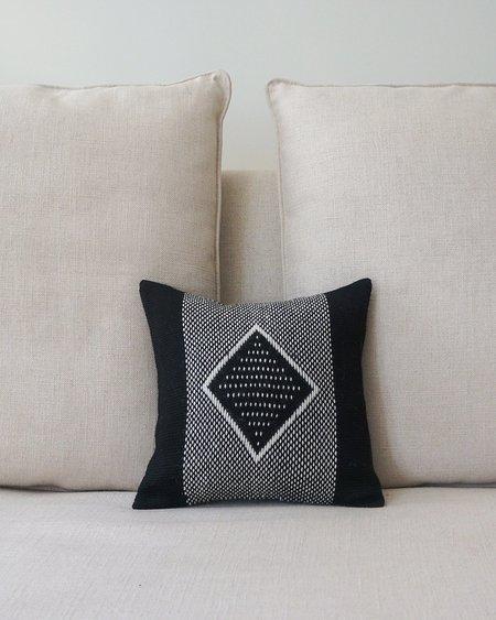 VOZ Apparel Diamante Square Textile Pillow - Black