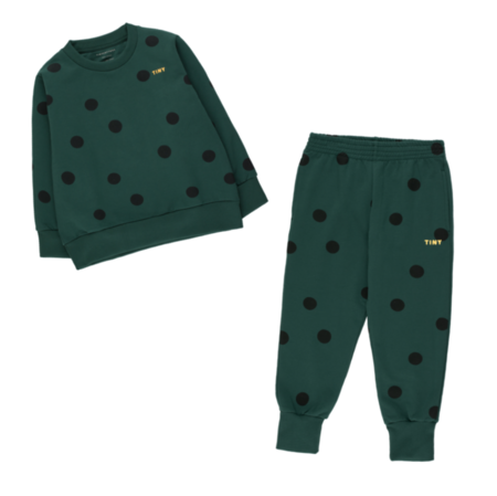 Kids Tinycottons Big Dots Sweatpant - Dark Green