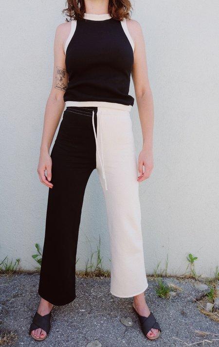 SELVA / NEGRA Sabi Two Tone Sweatpant - Black/Natural