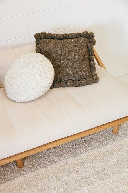 Pampa Monte Pom Pom Cushion #2 Large - Walnut