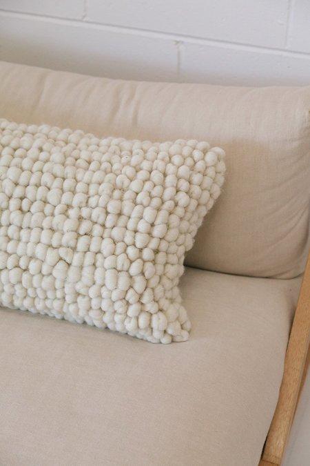 Pampa Porteño Lumbar Cushion #1 - Natural white