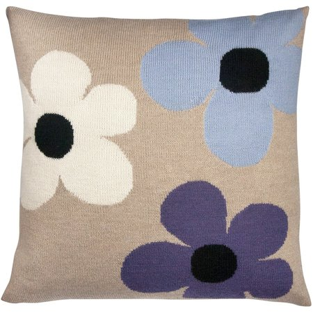 Kids luckyboysunday flower pillow case - beige