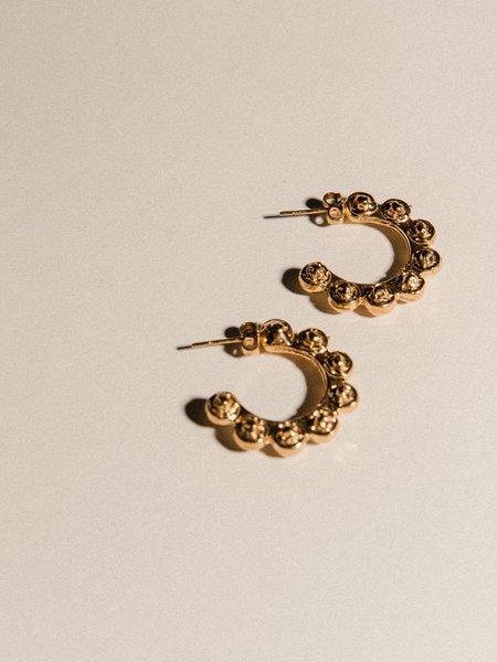 Pamela Card Doni Tondo Earrings - 24K Gold Vermeil