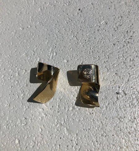 Fay Andrada Siipi Earrings - Brass