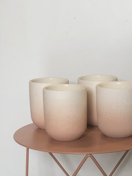 Peaches Set of Four Tumblers - Peach Ombre