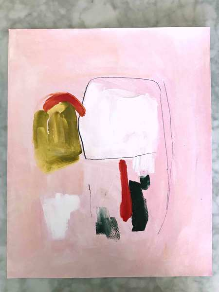 Genevieve Allen UNDER THE PERGOLA Painting