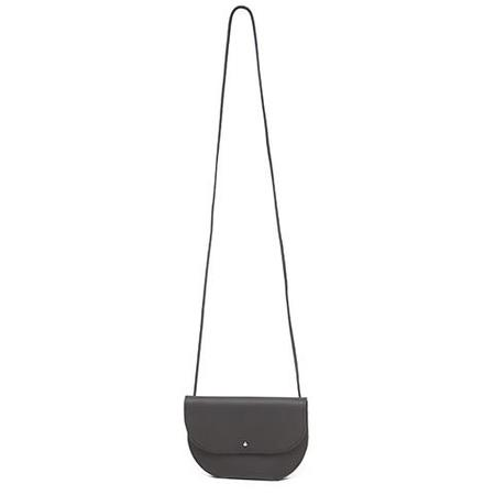 Erin Templeton Straight and Narrow Round Leather Bag - Black