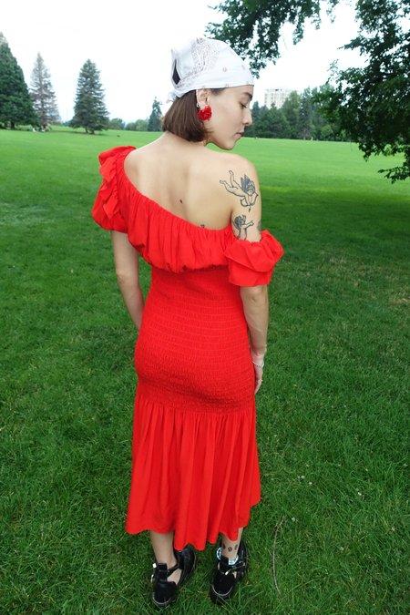 Shaina Mote Acacia Dress - Vermillion