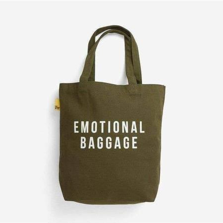 The School of Life Emotional Baggage Tote Bag - Green