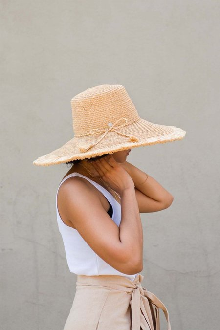 Tracy Watts Reed Tapered Hat - Natural Straw