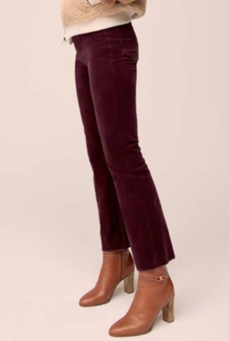 Mother Denim The Hustler Ankle Fray Pants - Grape