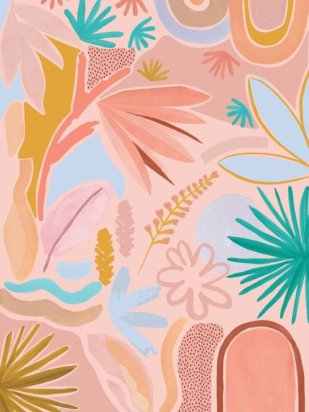 Mosey Me Desert Art Print - Coral