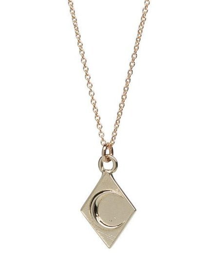 Talon 10K Gold Crescent Moon Pendant Necklace