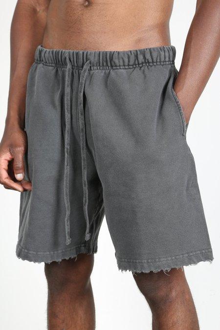Machus Distressed Sweat Short - Washed Black