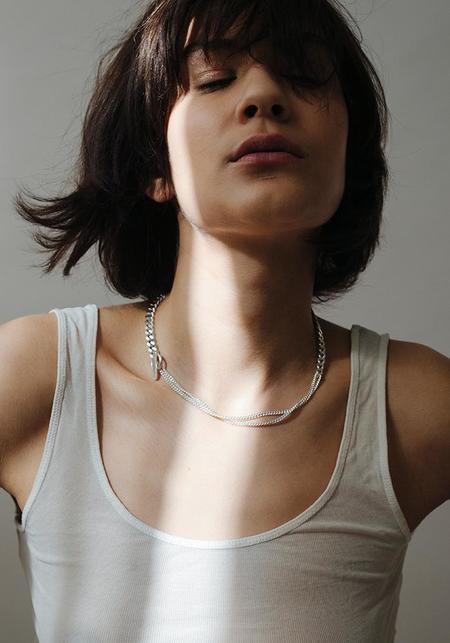 Saskia Diez Grand Mixed Chain Choker - Sterling Silver