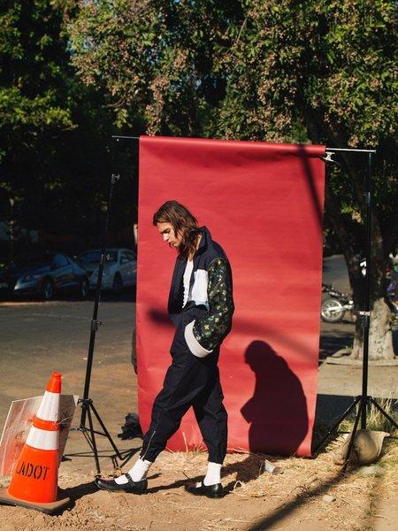 Martine Rose Icho Jacquard Sleeves Track Jacket - Navy