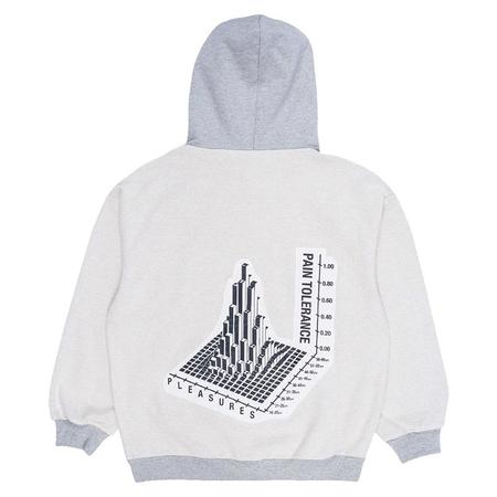 PLEASURES Logic Reverse Terry Hoodie - Grey