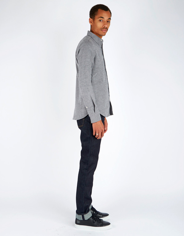 Men's 18 Waits Dylan Shirt Soft Grey Flannel