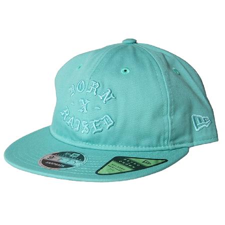 BORN X RAISED Rocker Snapback Hat - Aqua