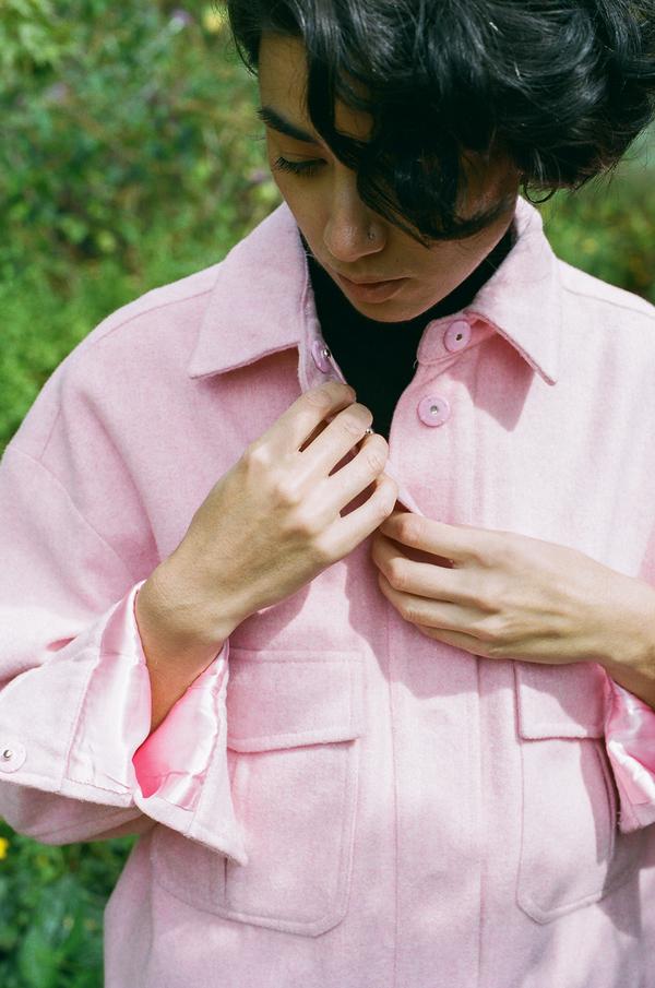 Ganni Hawthorne Wool Jacket - peony