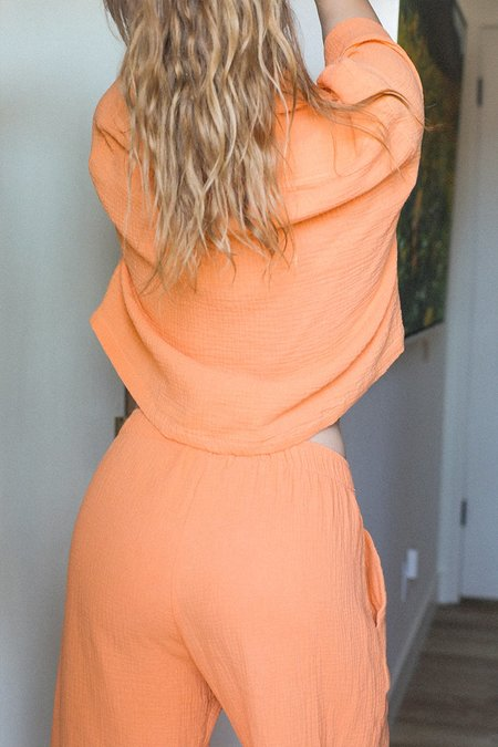 BACK BEAT RAGS Organic Cotton Pajama Bottom - Tangerine