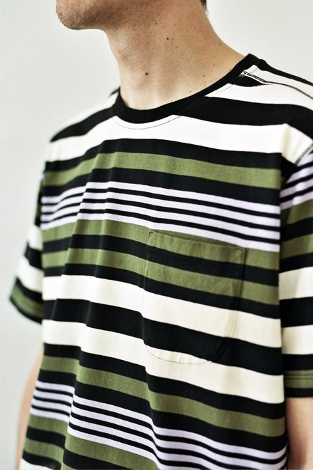 Pop Trading Company Striped Pocket T-Shirt - Multicolour