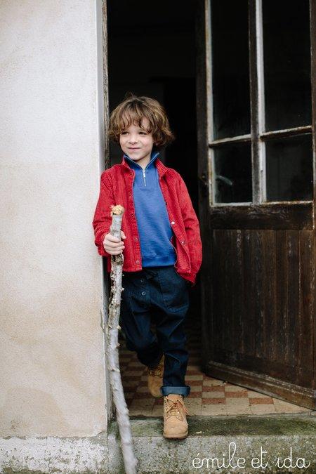 Kids Émile et Ida Half-Zip Sweatshirt - Cobalt