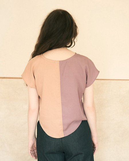 Elise Ballegeer Sonia Contrast Top - Orchid/Clay