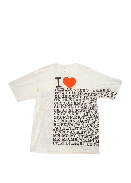 Doublet  I Love ... Compressed Earth Ball T-Shirt