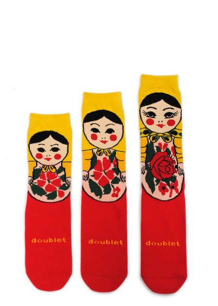 Doublet Matryoshka Socks -  Red/Yellow