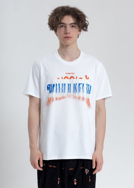 Doublet Thank You Fringe Embroidery T-Shirt - White