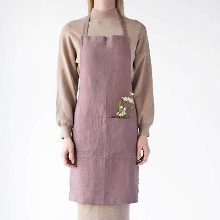 Linen Tales Linen Apron - Ashes of Roses
