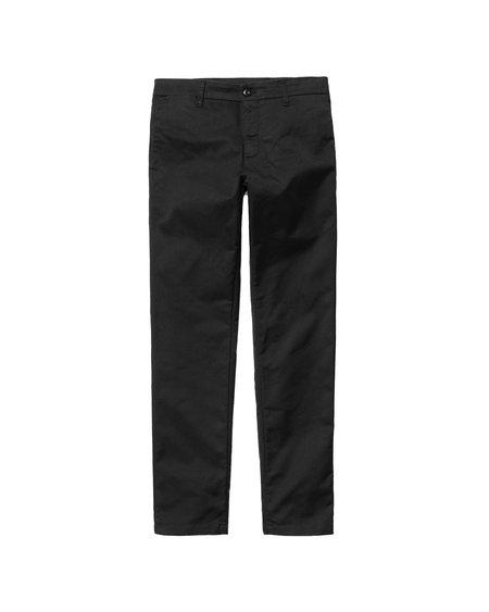 CARHARTT WIP Pantalón Chino Sid - Rinsed Black