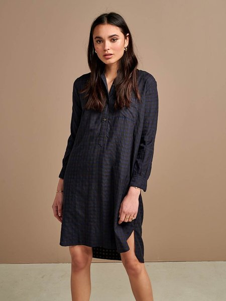 Bellerose Amerik Dress - Blue Check