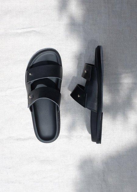 Kyma Lakki Footbed Sandals - Black