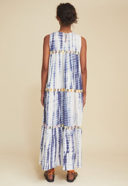 Warm Mezcal Dress - Blue Ikat