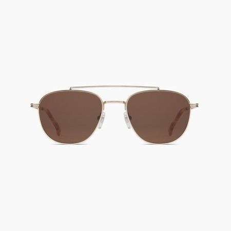 Unisex KOMONO Alex Sunglasses - White/Gold