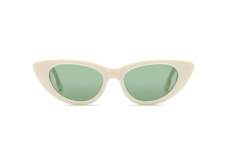KOMONO Sunglasses - Ivory/Kelly