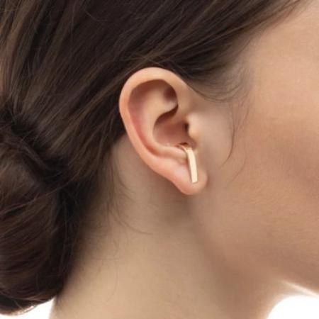 Hirotaka Wide Inner Hook Earring - 10k Gold