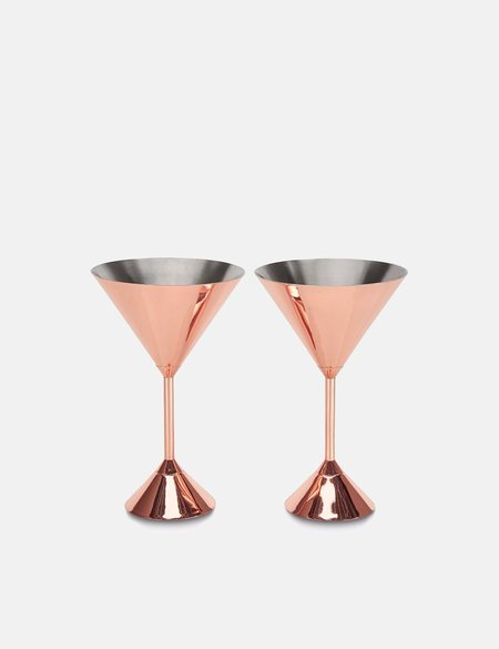 Tom Dixon Plum Martini Glasses Set of 2 - Copper