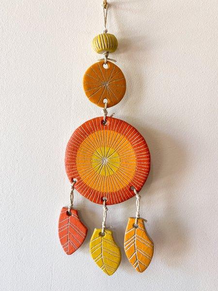 jen e ceramics Dreamcatcher Wall Hanging - Orange