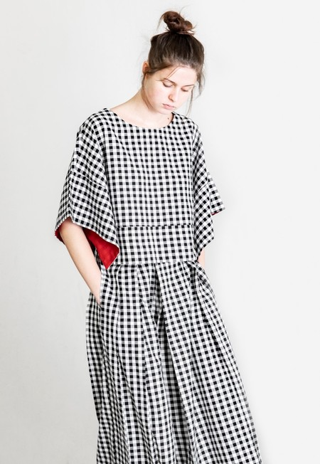 Rujuta Sheth Myra Kimono - Black/White